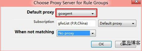 choose proxy server